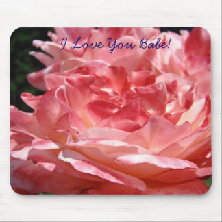 ¡Te amo bebé flores color de rosa rosadas de los Tapetes De Raton