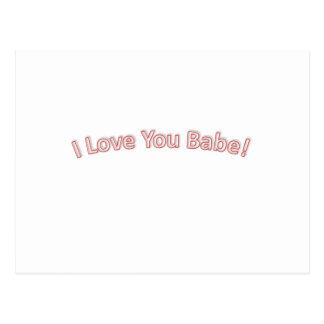 Te amo bebé tarjetas postales