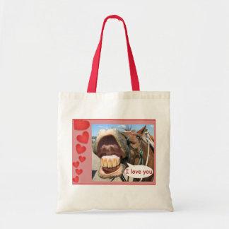 """""""Te amo"""" bolso de compras del caballo/personalizab Bolsa"""