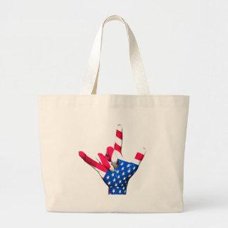 Te amo bolso de la bandera de los E.E.U.U. Bolsa