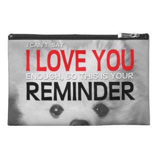 Te amo bolso de Pomeranian del recordatorio