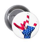 Te amo botón de la bandera de los E.E.U.U. Pin