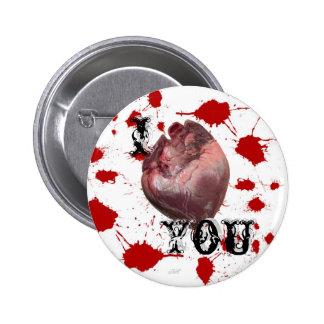 Te amo botón pin redondo de 2 pulgadas