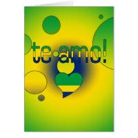 Te Amo! Brazil Flag Colors Pop Art