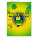 Te Amo! Brazil Flag Colors Pop Art Stationery Note Card