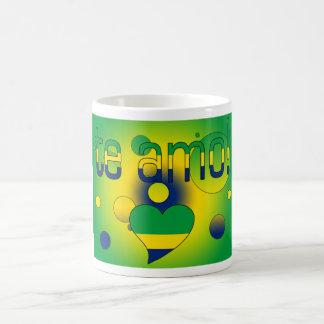 Te Amo! Brazil Flag Colors Pop Art Coffee Mug