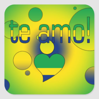 Te Amo! Brazil Flag Colors Pop Art Sticker