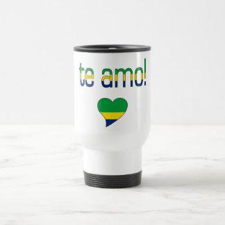 Te Amo! Brazil Flag Colors Travel Mug