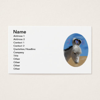 Te amo burro tarjetas de visita