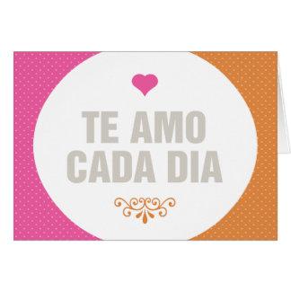 Te amo cada día card