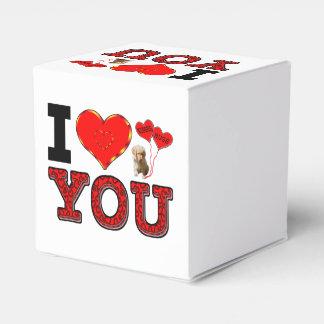 Te amo caja del corazón caja para regalo de boda