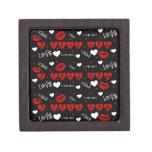 Te amo caja del recuerdo de la tarjeta del día de  caja de recuerdo de calidad