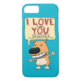 Te amo caja divertida del teléfono del perro funda iPhone 7