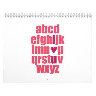 Te amo calendario
