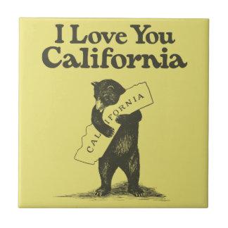 Te amo California Azulejo Cuadrado Pequeño