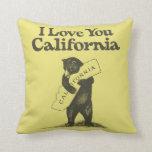 Te amo California Cojin