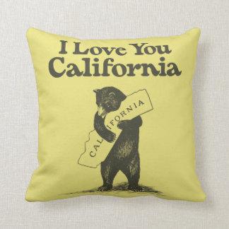 Te amo California Cojín