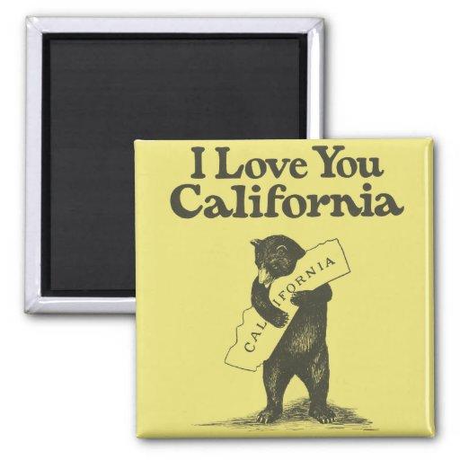 Te amo California Imán De Frigorifico