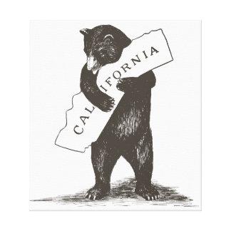 Te amo California Lona Envuelta Para Galerias