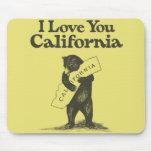 Te amo California Mousepads