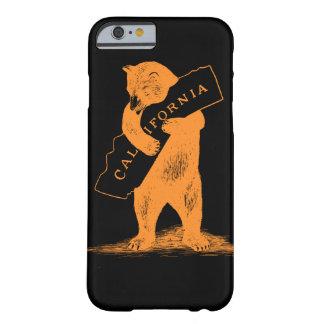 Te amo California--Naranja y negro Funda Barely There iPhone 6