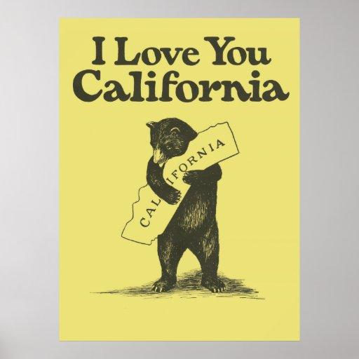 Te amo California Impresiones