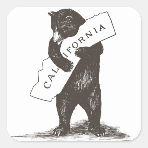 Te amo California Pegatinas Cuadradas Personalizadas