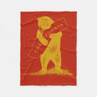 Te amo California--Rojo y oro Manta De Forro Polar