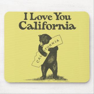 Te amo California Alfombrillas De Ratones