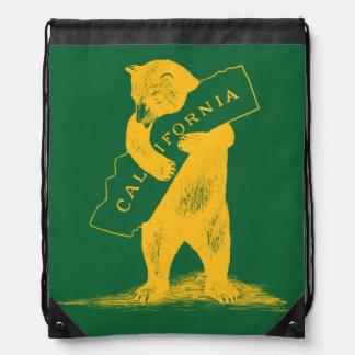 Te amo California--Verde y oro Mochilas