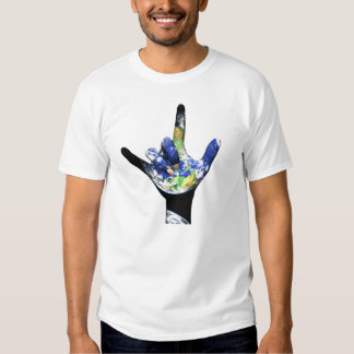 Te amo camiseta de la tierra del planeta poleras
