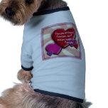 Te amo camiseta de perrito