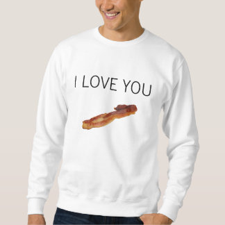 TE AMO camiseta del tocino Sudadera Con Capucha