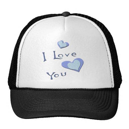 Te amo camisetas y regalos de la tarjeta del día d gorros bordados