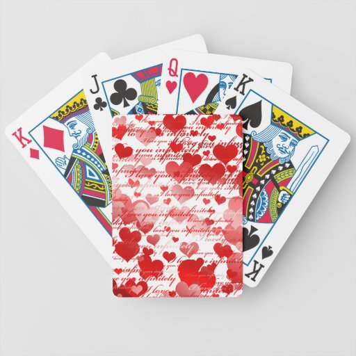 Te amo cartas de juego