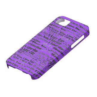 Te amo caso de Iphone iPhone 5 Cárcasas