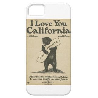Te amo caso del iPhone 5 de California Funda Para iPhone 5 Barely There