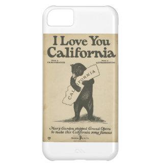 Te amo caso del iPhone 5 de California Funda Para iPhone 5C