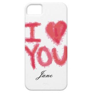 Te amo caso del iPhone con el personalizar iPhone 5 Protectores