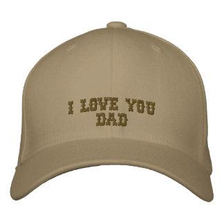 Te amo casquillo bordado papá gorra bordada