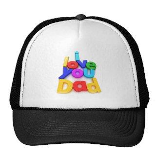Te amo casquillo del papá gorra