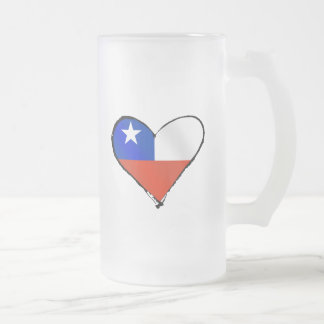 Te Amo Chile Chilean love and pride Frosted Glass Beer Mug