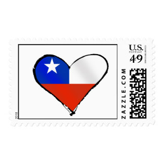 Te Amo Chile Chilean love and pride Postage