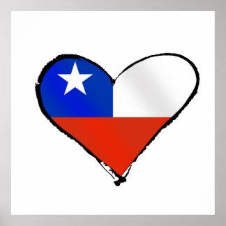 Te Amo Chile Chilean love and pride Print