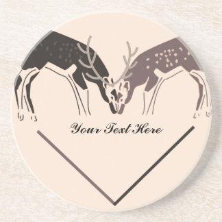 Te amo ciervos posavasos diseño