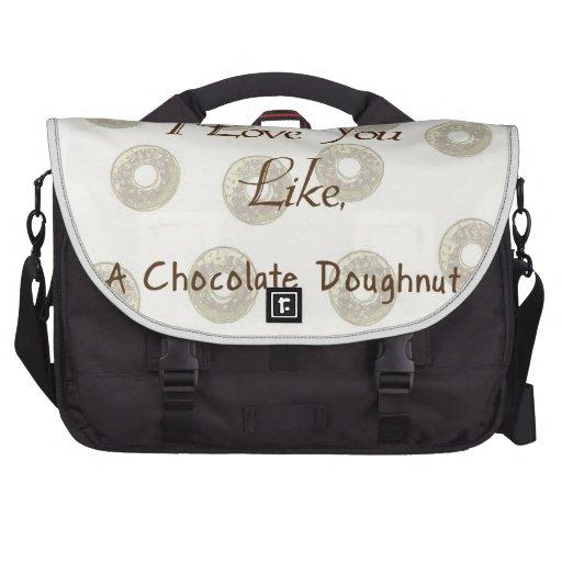 Te amo como un buñuelo del chocolate bolsas para portátil