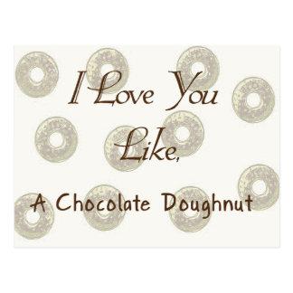 Te amo como un buñuelo del chocolate postales