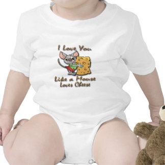 Te amo como un ratón ama el queso 2 traje de bebé