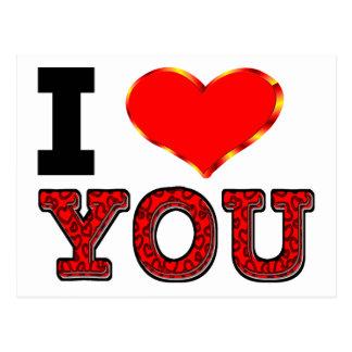 Te amo con el corazón 3D Tarjetas Postales