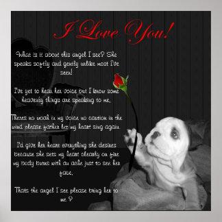 Te amo con el poema impresiones
